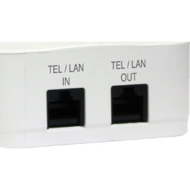 2 PROTECTOR DE SURGE DIRECTA DE OUTLET CON TEL/LAN